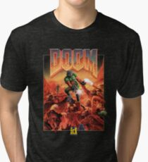 DOOM CLASSIC COVER Tri-blend T-Shirt