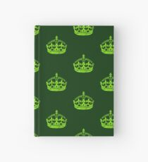 Distressed Grunge Keep Calm Crown Hardcover Journal