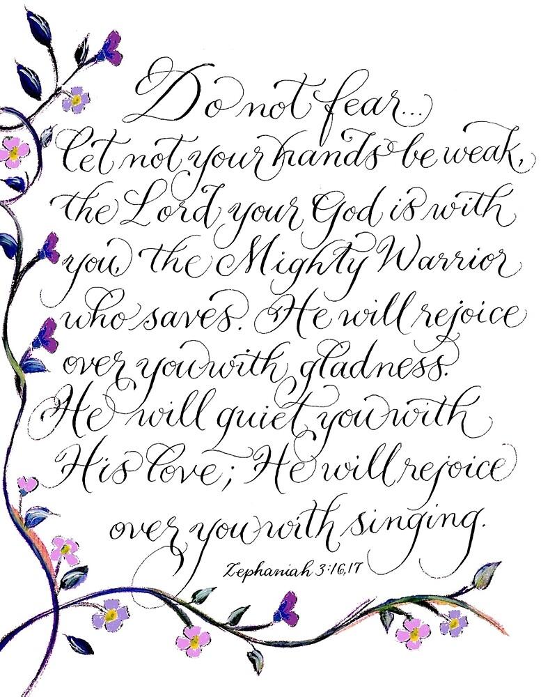 Do not fear handwritten comforting verse by Melissa Goza