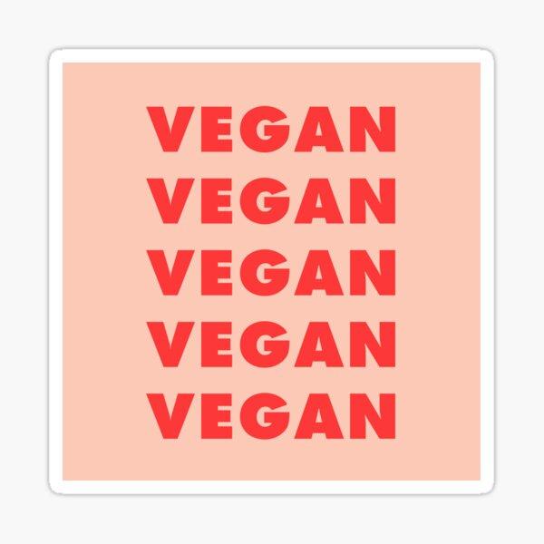 Vegan Vegan Vegan Sticker