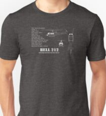 Bell 212 Helicopter Specs T-Shirt