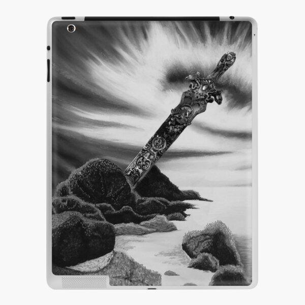Amazon Sword in the Stone Black and White Seascape Sunset iPad Skin