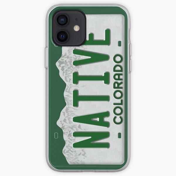 Colorado Native License Plate iPhone Soft Case