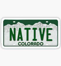 Colorado Native License Plate Sticker