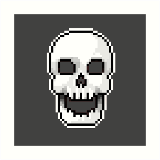 """Pixel Skull"" Art Print By Theoryso"