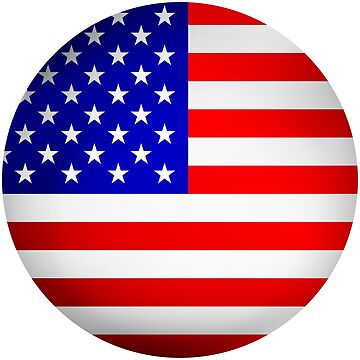 Round USA flag sign by Smaragdas