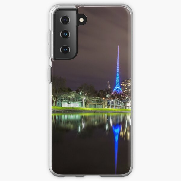 View of the Melbourne Rowing Sheds at night Samsung Galaxy Soft Case