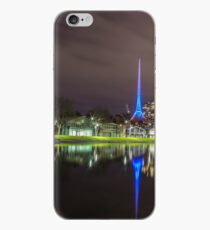 View of the Melbourne Rowing Sheds at night iPhone Case