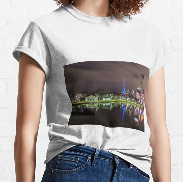 View of the Melbourne Rowing Sheds at night Classic T-Shirt