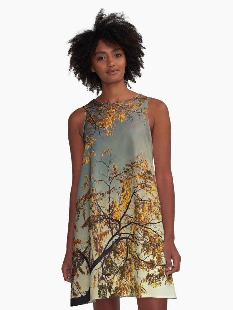 A Day in Autumn A-Line Dress Front