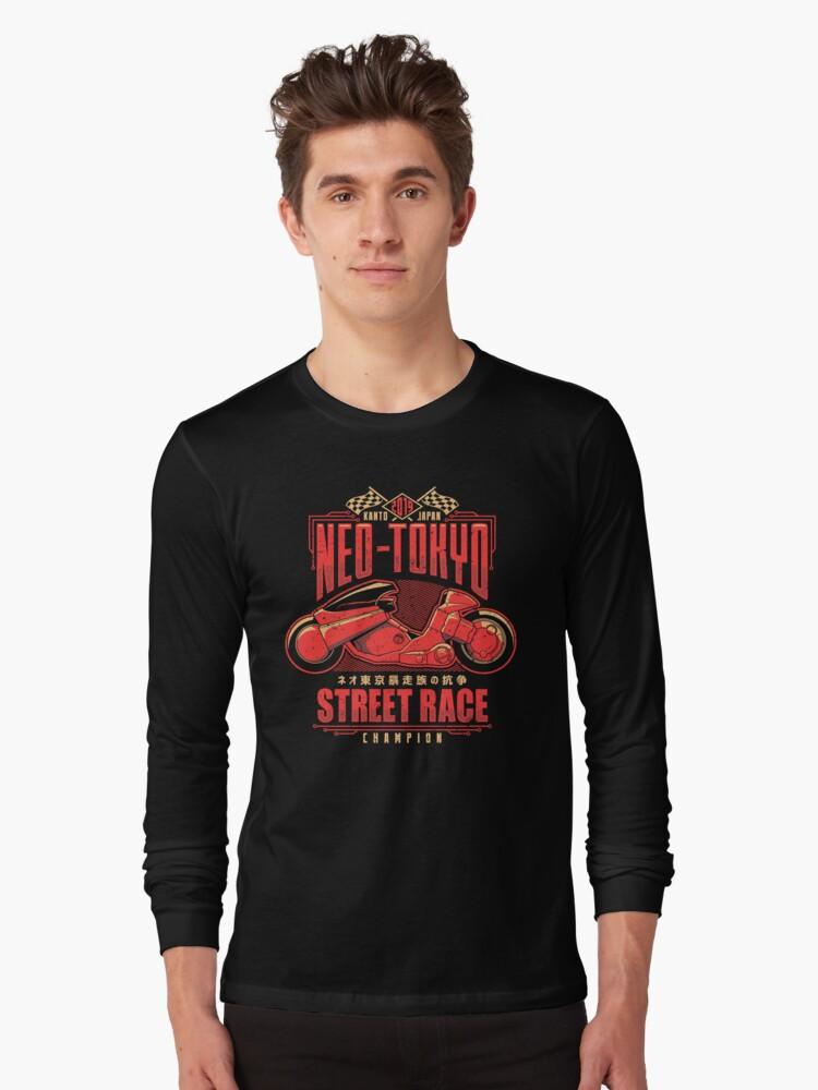 Neo-Tokyo Street Racing Champion Long Sleeve T-Shirt Front