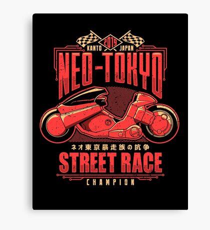 Neo-Tokyo Street Racing Champion Canvas Print