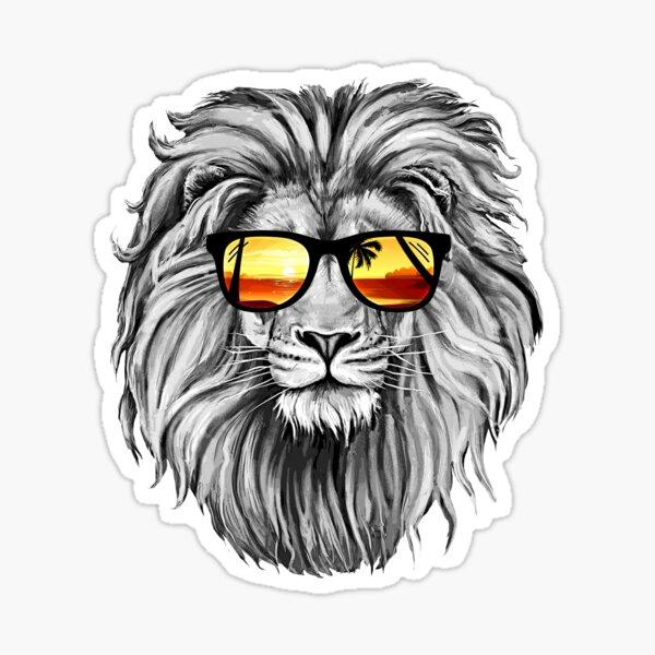 Lion d'été Sticker