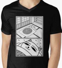 Sleepy cat Men's V-Neck T-Shirt
