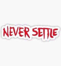 OnePlus - Never Settle Sticker