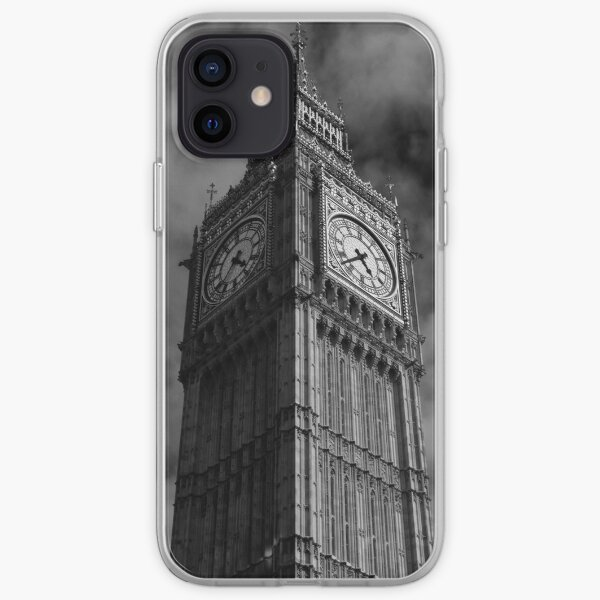 Big Ben in Black and White iPhone Soft Case