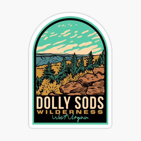 Dolly Sods West Virginia Badge Sticker