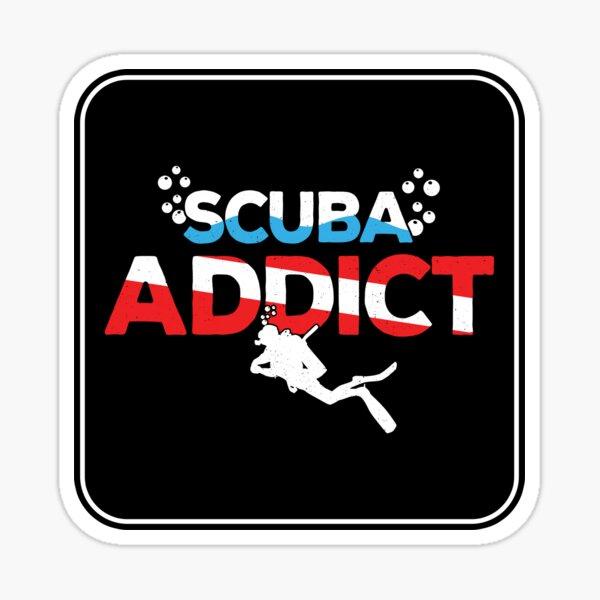 Scuba Diving Gift - Diver Down Flag - Scuba Addict Sticker