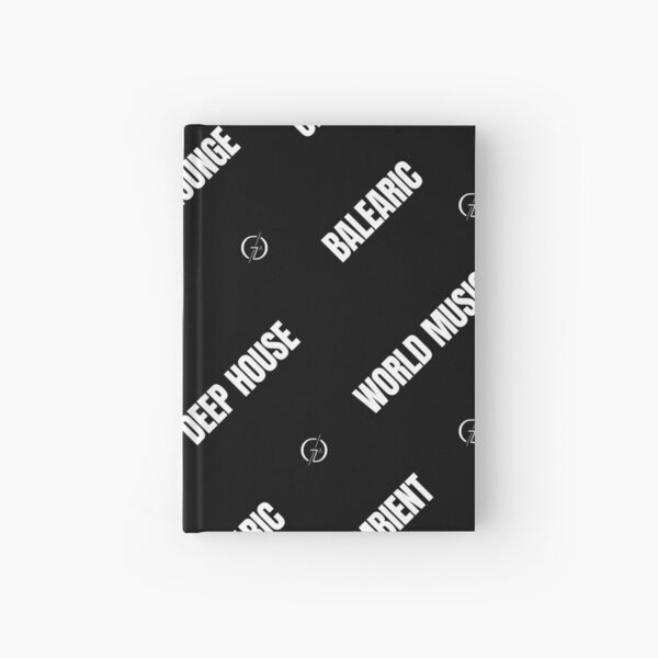 Lounge Deep House Balearic Chill-out Ambient World Music Trip-hop Lo-fi white Hardcover Journal