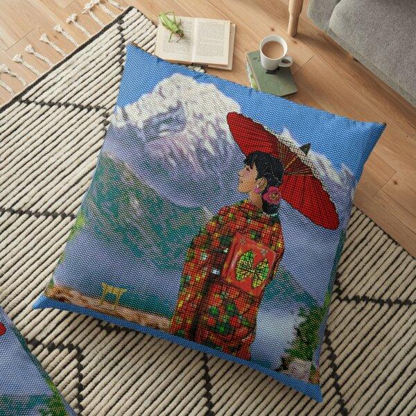 Japanese Woman 3 Floor Pillow