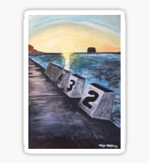 """Merewether Baths"" by Margo Humphries Sticker"