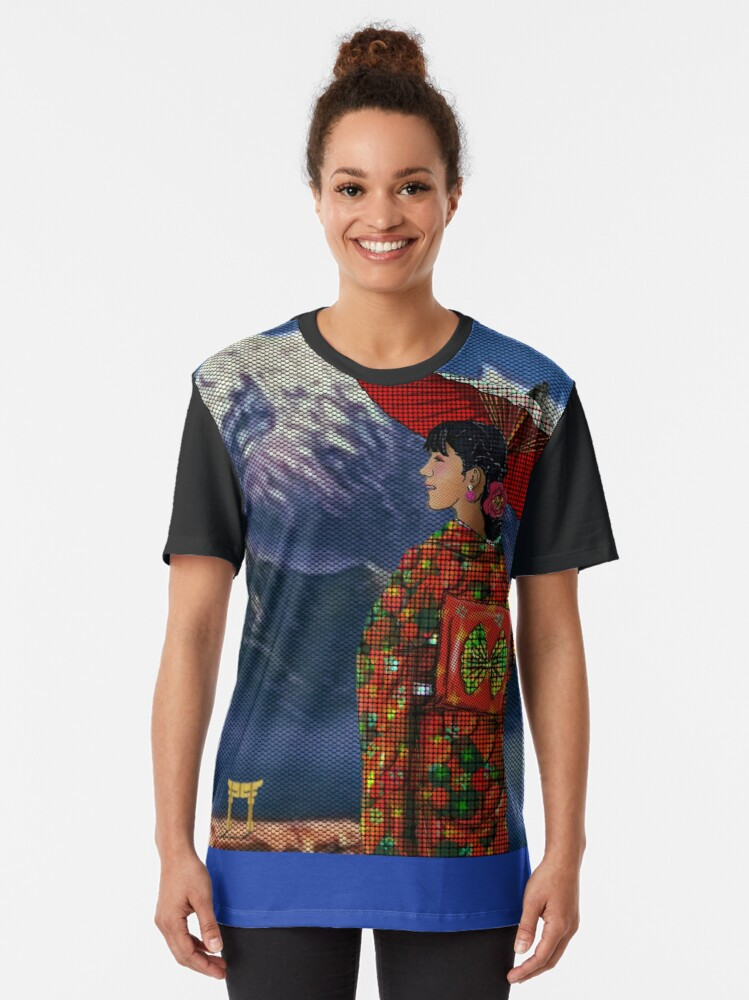 Alternate view of Japanese Woman 4 Graphic T-Shirt