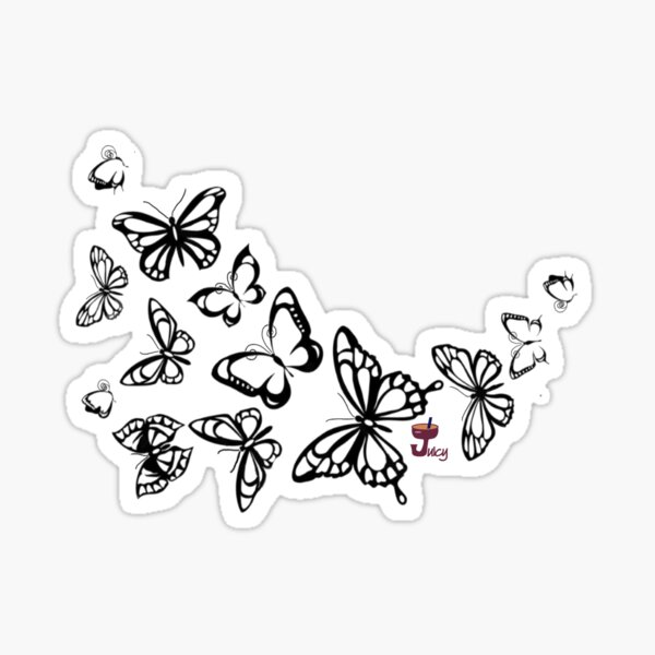 Colorfly Butterfly Bunches Sticker