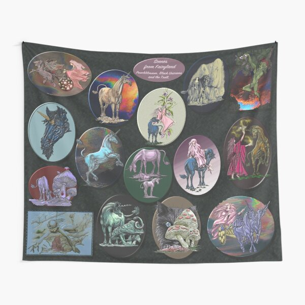 UNICORN ~ Scenes From Fairyland by tasmanianartist Tapestry