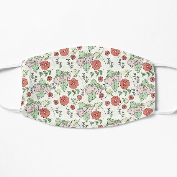 Berries, Flora & Fauna Print on Cream Background Flat Mask