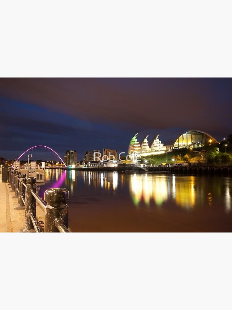 Newcastle-Gateshead, Millennium Bridge and Sage Centre at Dusk by robcole