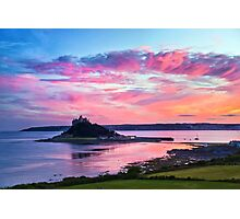 Sunset over Mount's Bay Photographic Print