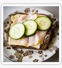 Bread with Cucumber, Turkey and Cheese Sticker