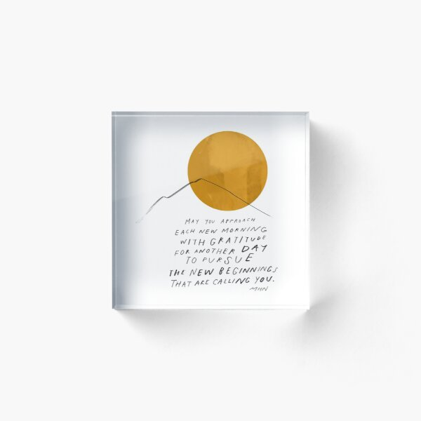 Gratitude Inspirational Motivational Encouraging Quote by Morgan Harper Nichols Acrylic Block