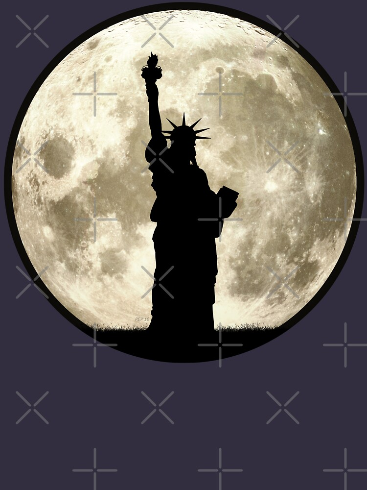 Full Moon Liberty Silhouette by morningdance