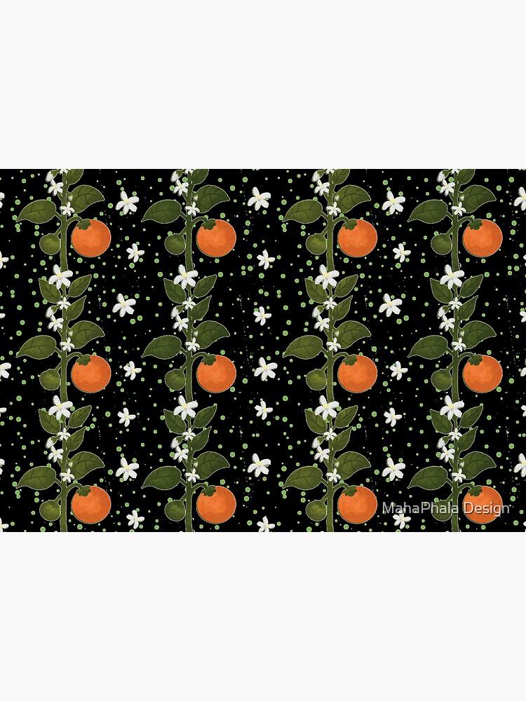 Tangerine Flowers Home by MahaphalaDesign