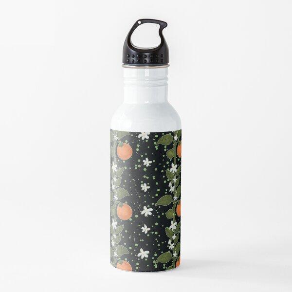 Tangerine Flowers Home Water Bottle