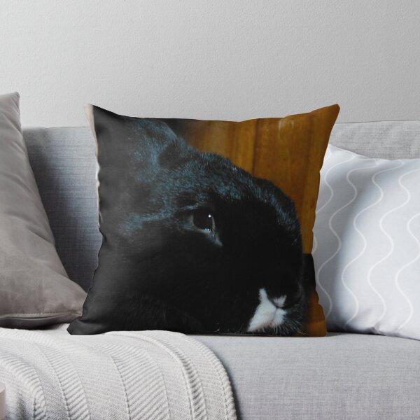 Smudge Portrait Throw Pillow