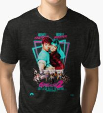 Neon 80's GREASE 2  Tri-blend T-Shirt