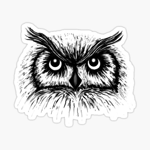 Spooky Wise Owl Sticker