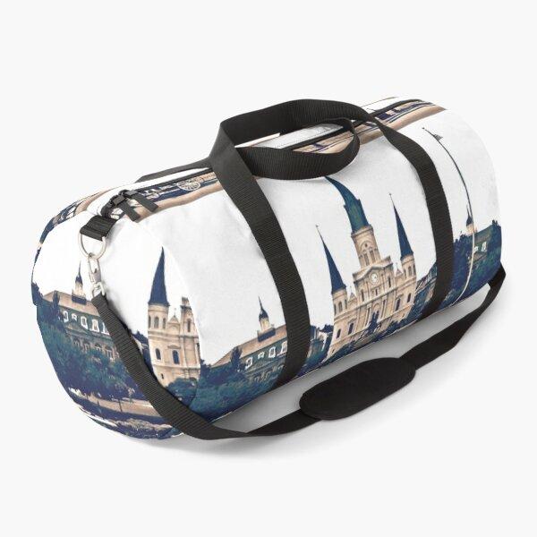 New Orleans Jackson Square Iconic Nola French Quarter Cityscape Travel Lifestyle Duffle Bag