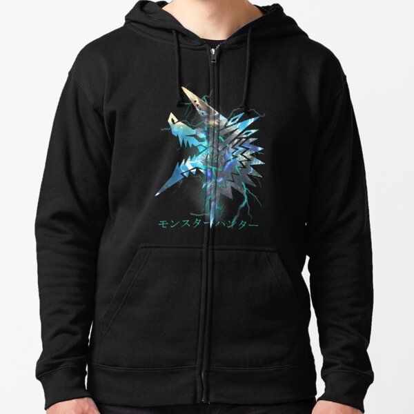Monster Hunter - Zinogre  Zipped Hoodie