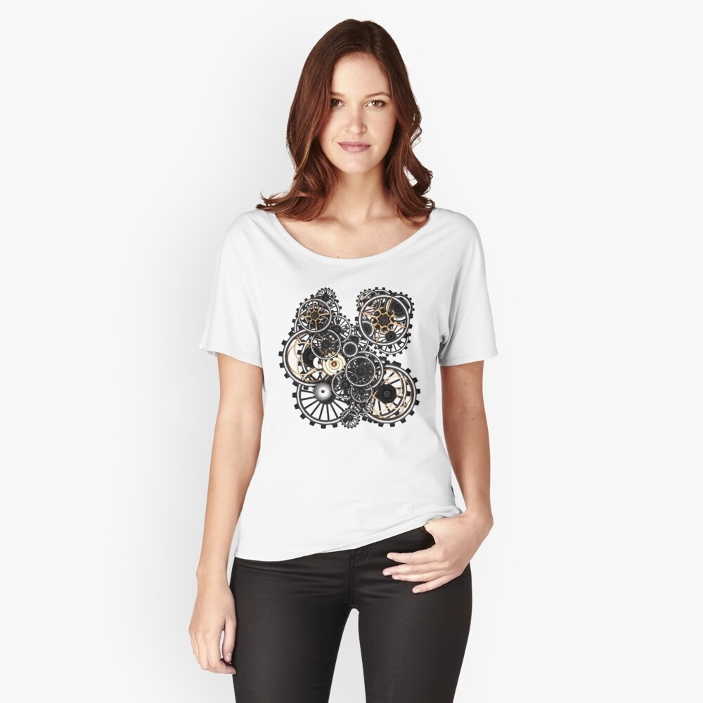 Steampunk Gears on your Gear No.2 Women's Relaxed Fit T-Shirt Front