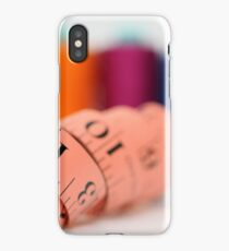 Sewing kit thread and measuring tape  iPhone Case/Skin