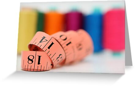Sewing kit thread and measuring tape  by PhotoStock-Isra