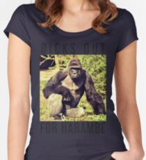 Dicks Out For Harambe Women's Fitted Scoop T-Shirt