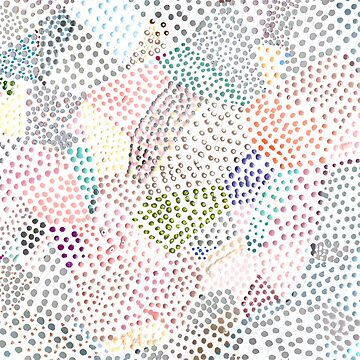 Rainbow Gems Dots Abstract Geometric by homedeco