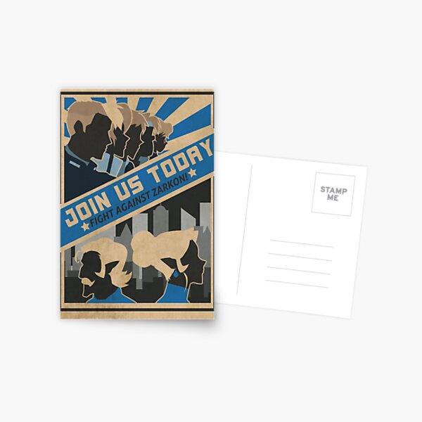 paladins, we need you! Postcard