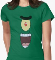 Plankton evil and funny laugh Women's Fitted T-Shirt