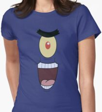 Plankton evil and funny laugh Womens Fitted T-Shirt