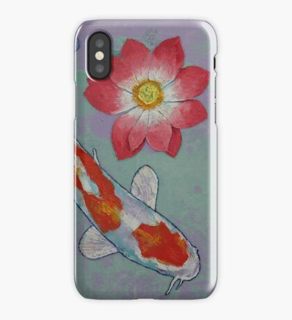 Koi and Lotus iPhone Case